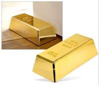 A Gold Bar Door Stop