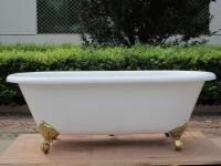 cast iron bathtubs with foot