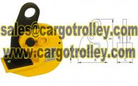 Horizontal steel plate lifting clamps application