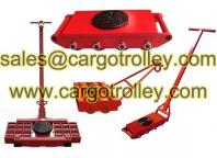 Rigging equipment and roller skates machinery moving dollies