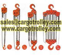 Manual chain hoist also know as hand chain hoist