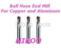 chian manuacturer solid carbide ball nose end mills for Cutting Copper and Aluminum 2flutes