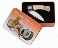 knife tin box rectangular tin box