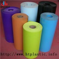 Flocked HIPS sheet for blister packaging