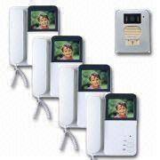 Four-wire Video Door Phone with Two More Indoor Units