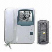 Four-wire B/W Handset Video Door Phone